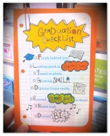 Graduation Card: Funky Checklist
