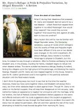 """Book Review: """"Mr. Darcy'sRefuge"""""""